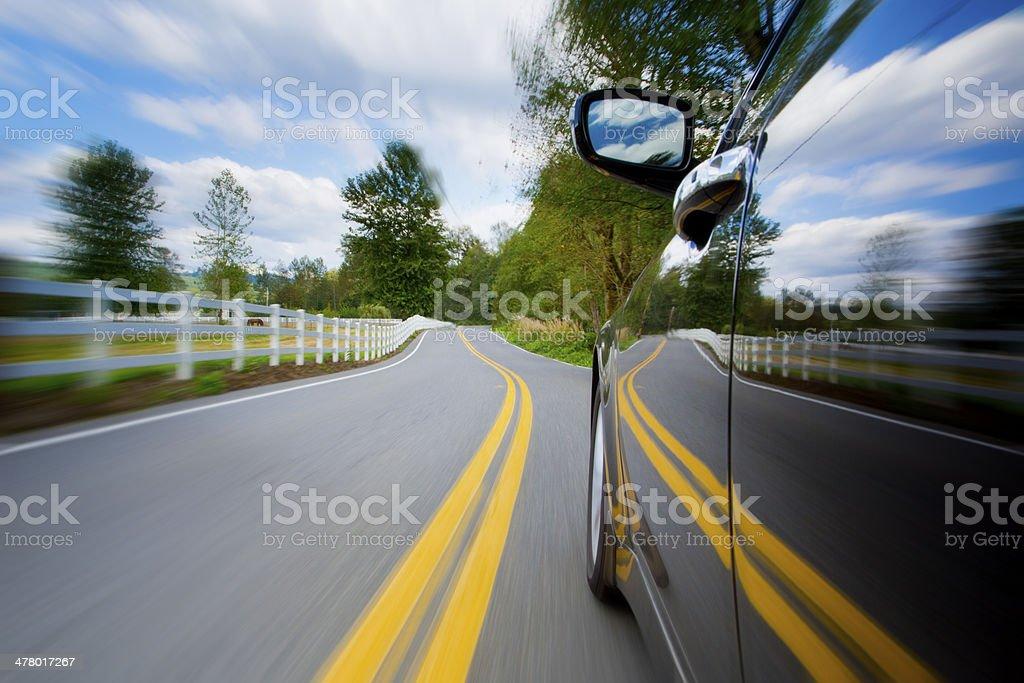 Speedy Driving. royalty-free stock photo