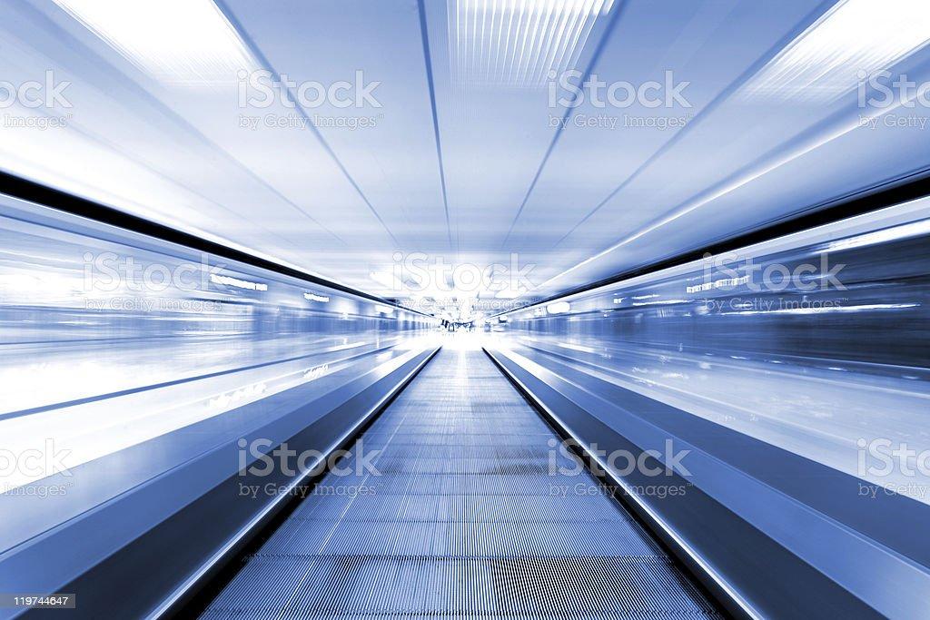 speedy escalator royalty-free stock photo