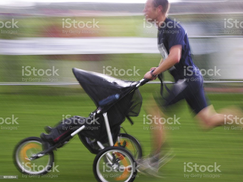 Speedy Jogging Stroller stock photo
