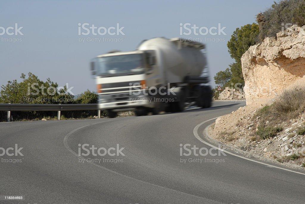Speedy truck royalty-free stock photo