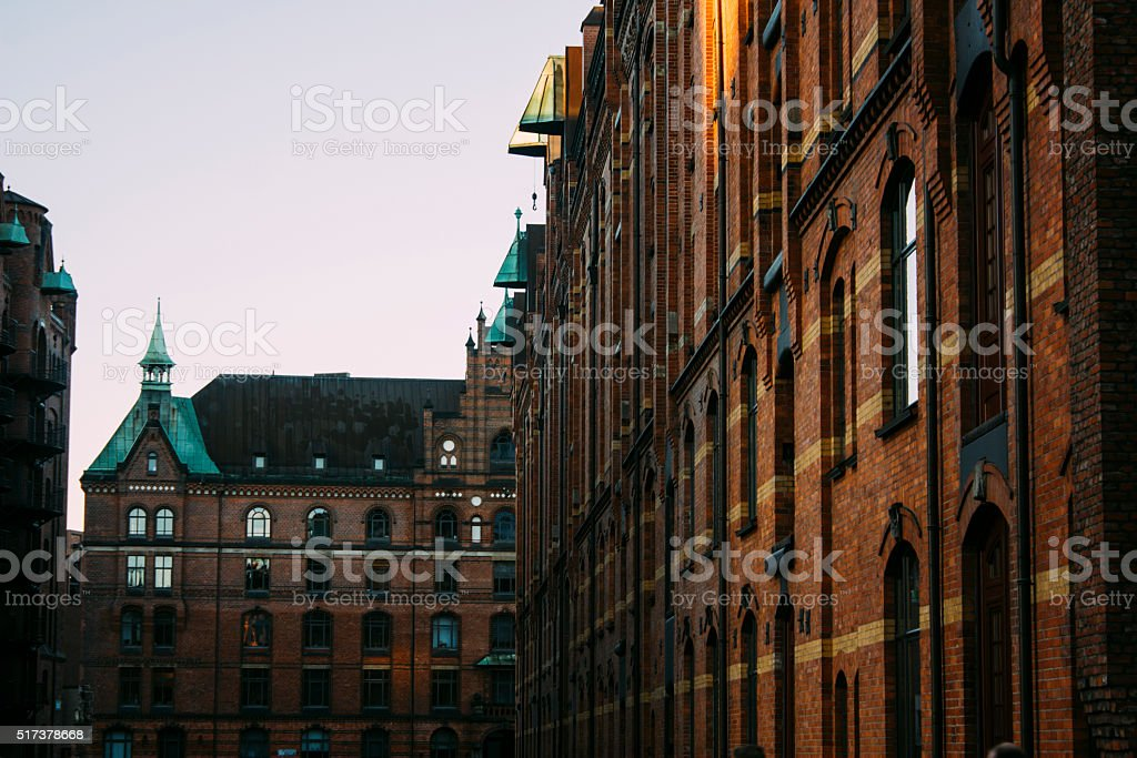 Speicherstadt, architecture of building exterior stock photo