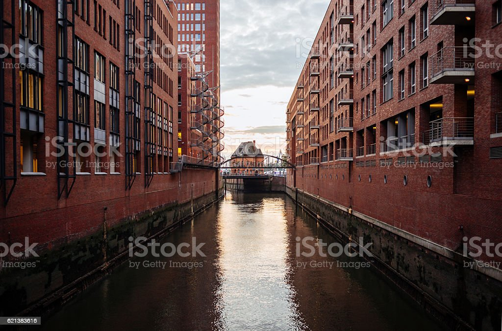 Speicherstadt district in Hamburg, Germany stock photo
