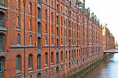 Speicherstadt district in Hamburg, Germany