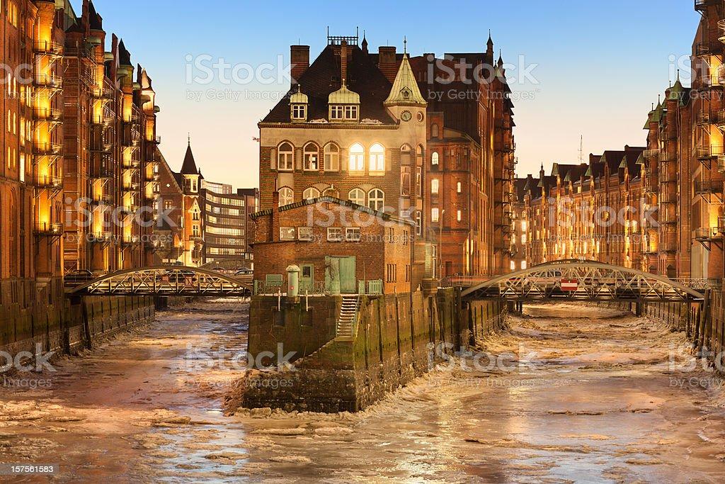 Speicherstadt Hamburg royalty-free stock photo