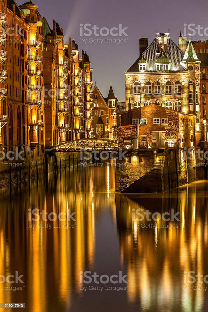 Speicherstadt Hamburg stock photo