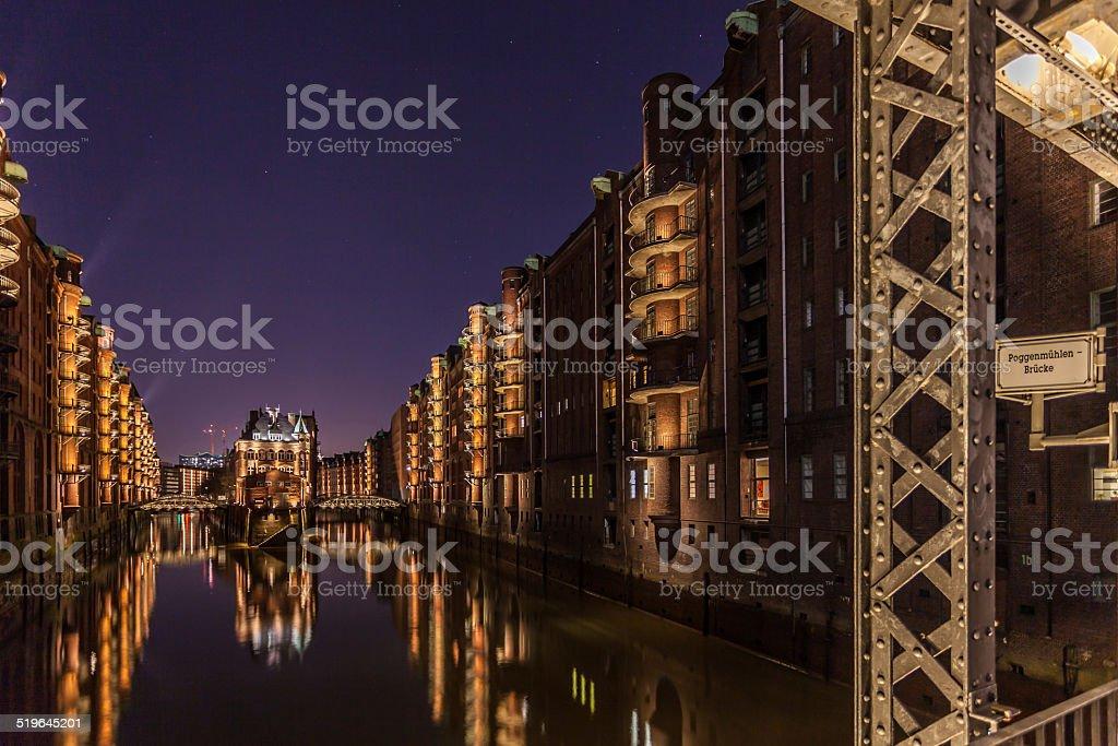 Speicherstadt Hamburg stock photo