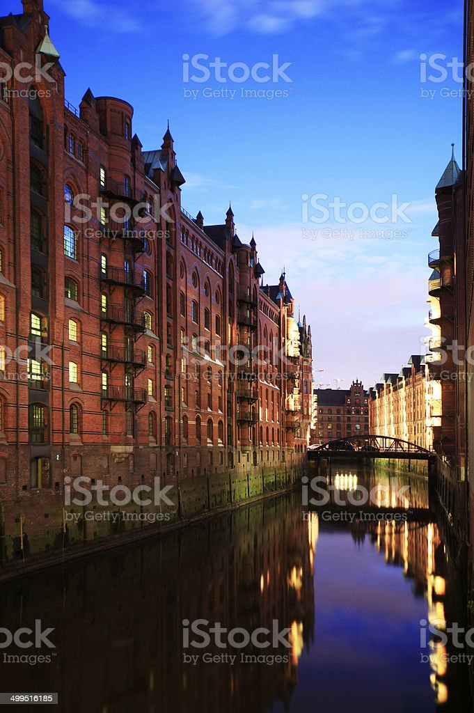 Speicherstadt royalty-free stock photo