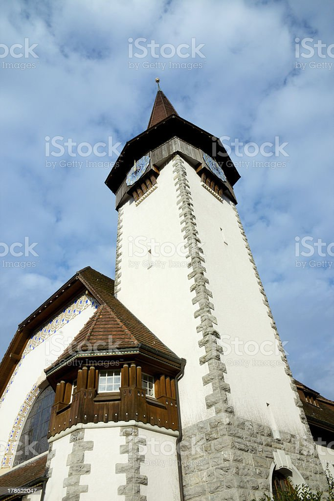 Speiz church stock photo