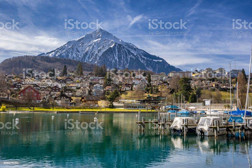 Speiz in Switzerland stock photo