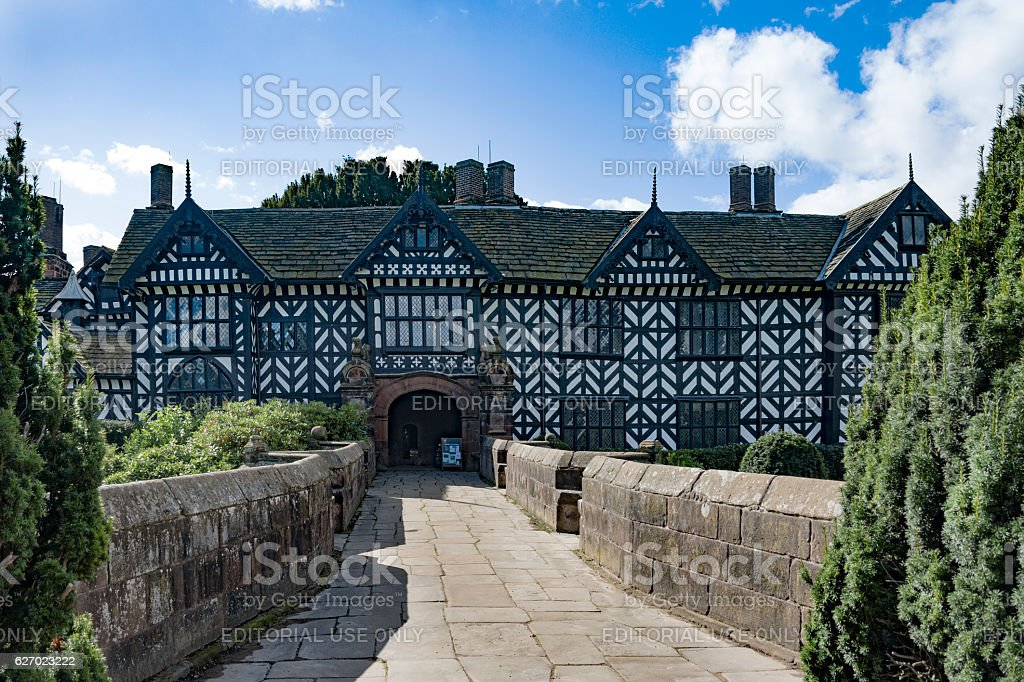 Speke Hall, Merseyside stock photo