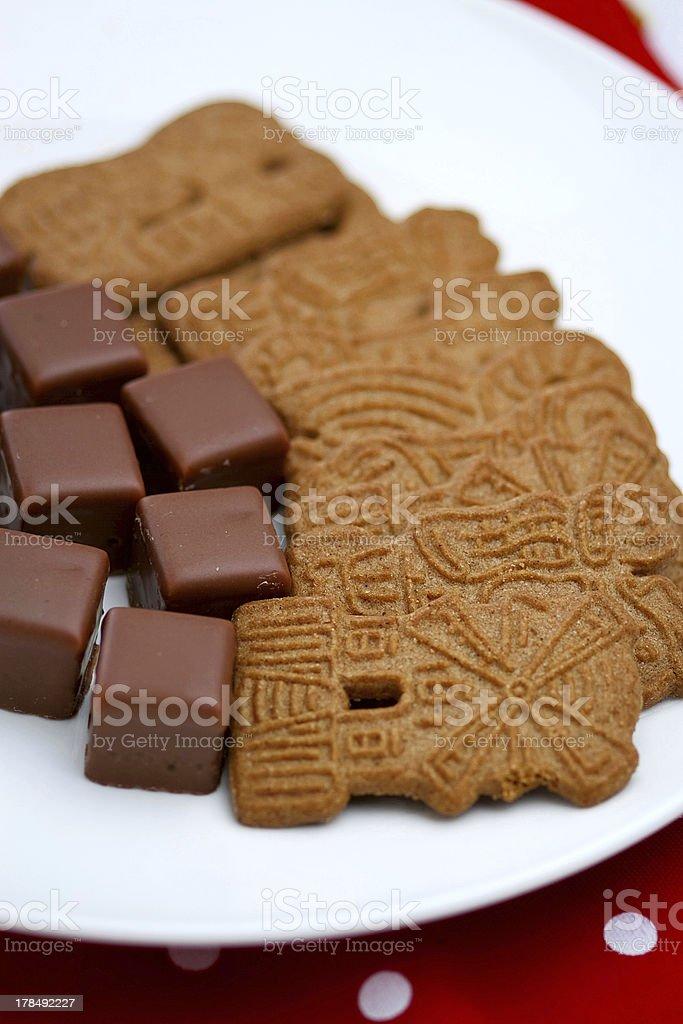 Spekulatius and Dominosteine (german Christmas cookies) stock photo