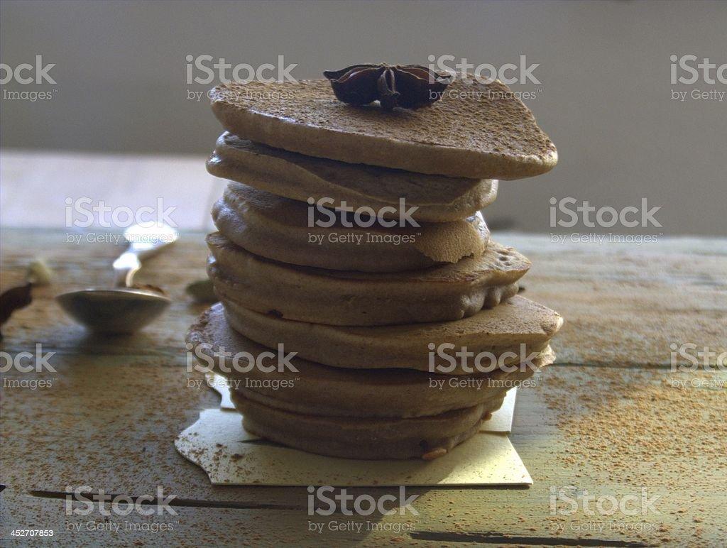 Spekulatius pancake stock photo