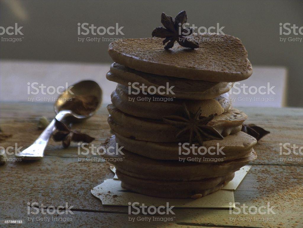 Spekulatius pancakes stock photo