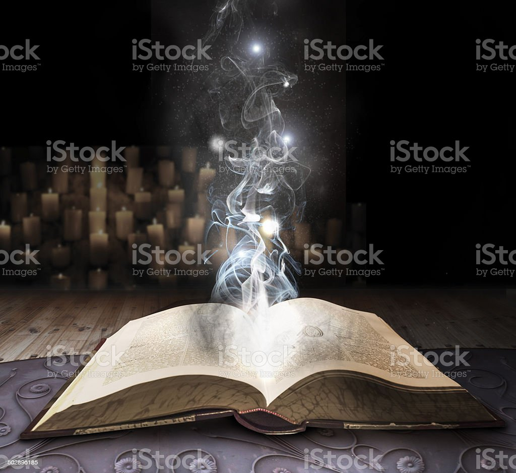 spell book stock photo
