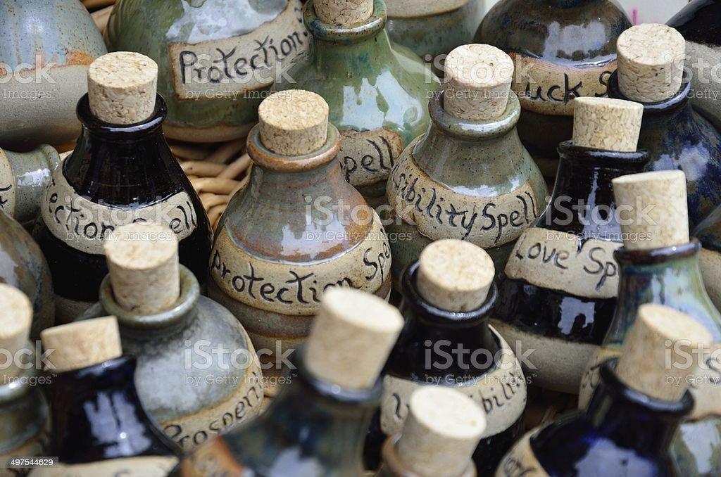 spell bottles stock photo