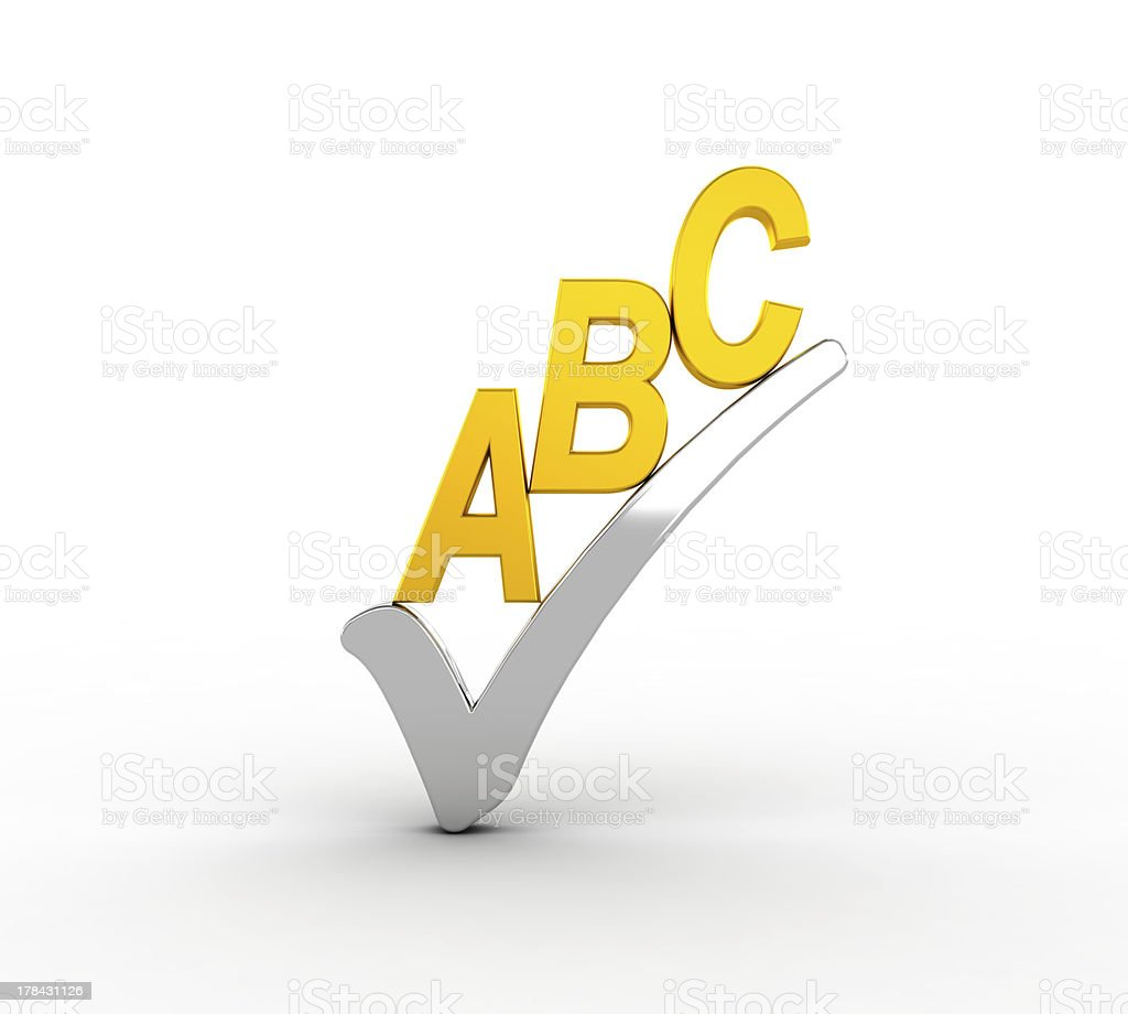 Spell check icon royalty-free stock photo