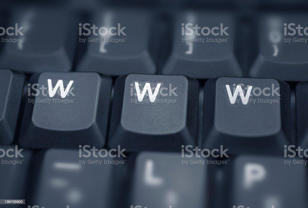 WWW - Spelled in keys on a laptop royalty-free stock photo