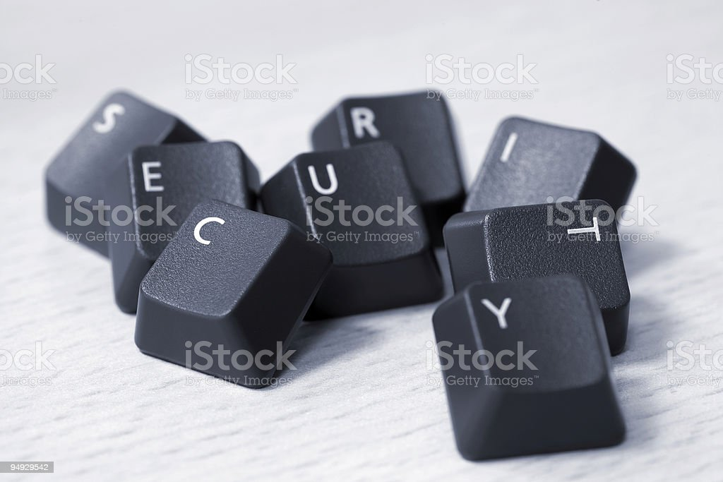 SECURITY spelled with keyboard keys royalty-free stock photo