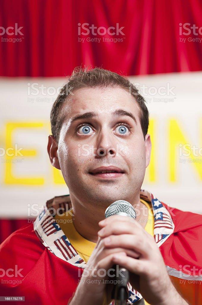 Spelling Bee Contestant stock photo