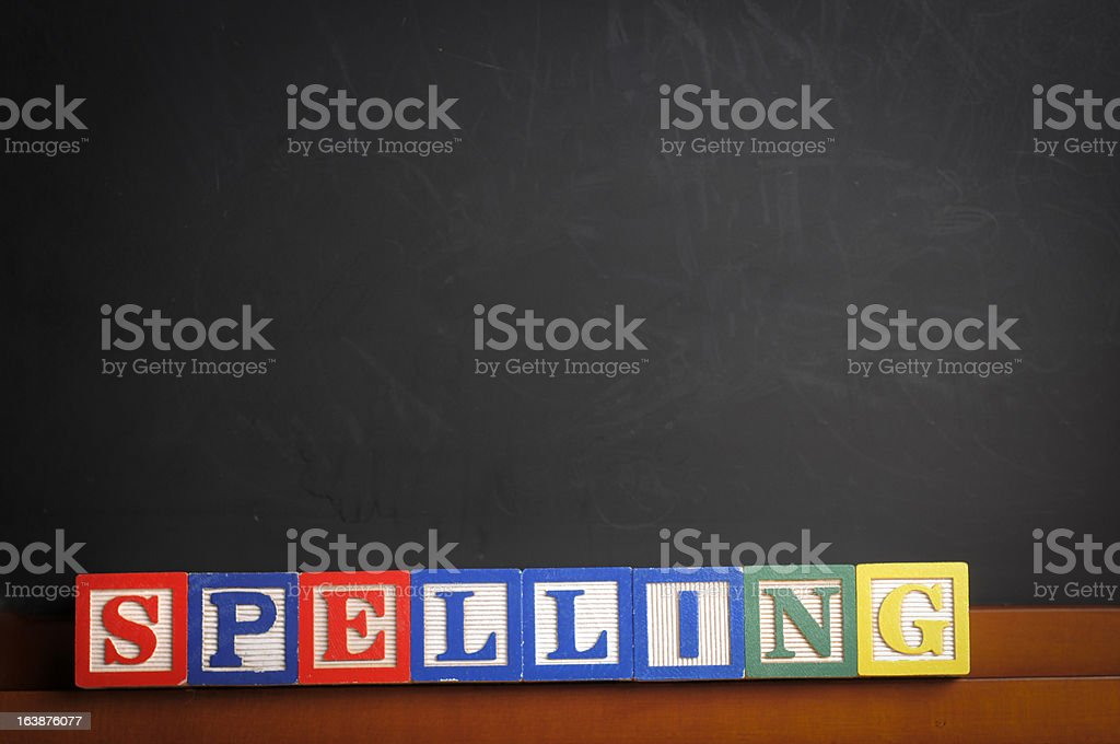 Spelling Class stock photo