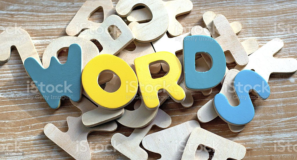 Spelling Out WORDS stock photo