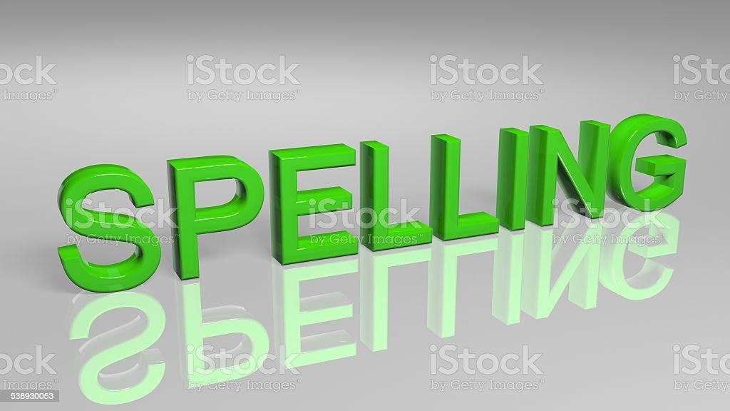 Spelling stock photo