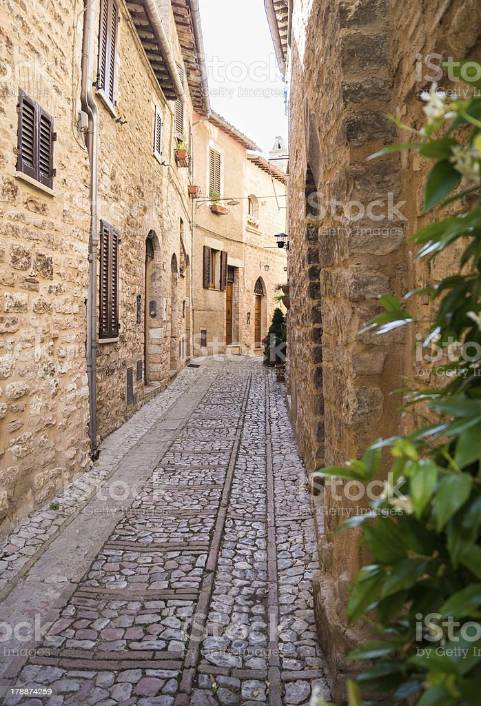 Vicolo di Spello royalty-free stock photo