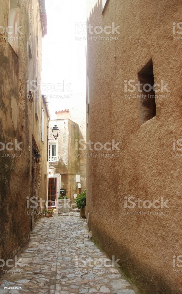 Speloncato alleys stock photo