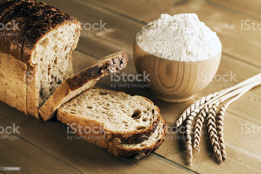 Spelt bread stock photo