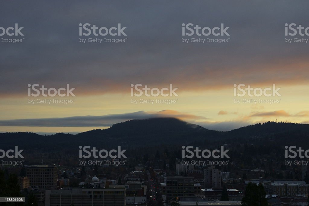 Spencer Butte Alpenglow stock photo