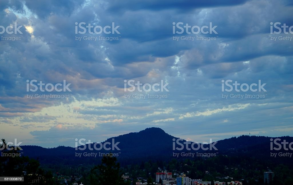 Spencer Butte Clouds stock photo
