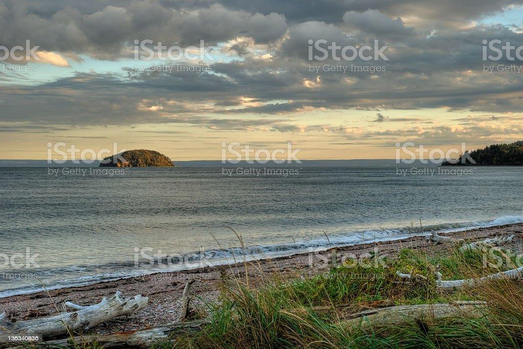 Spencer Island, Nova Scotia stock photo