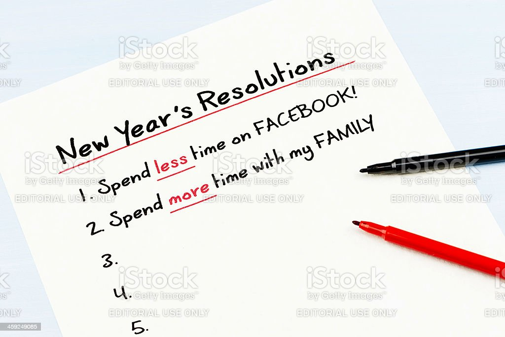 Spend Less Time on Facebook royalty-free stock photo
