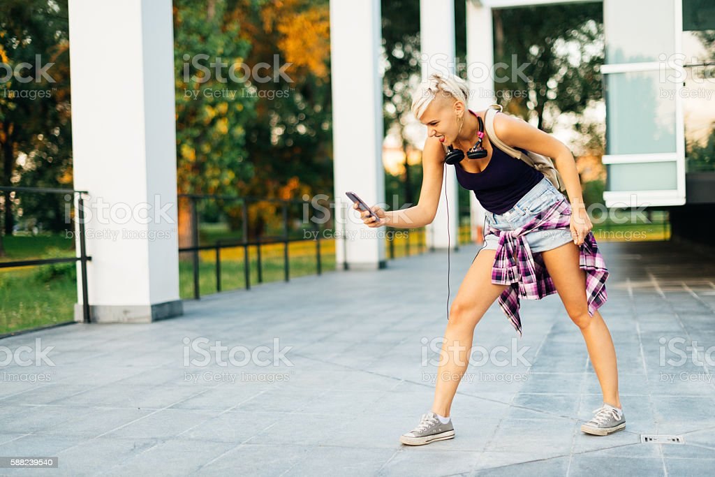 I spend my leisure time looking for hidden creatures stock photo