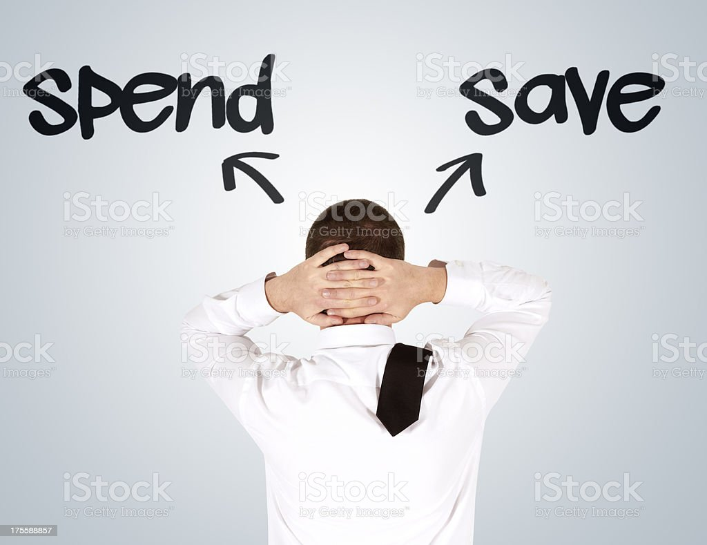 Spend or Save stock photo