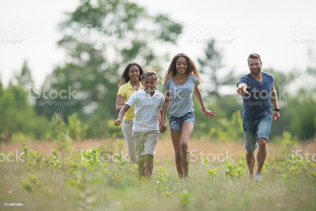 Spending a Sunny Summer Day Outdoors stock photo