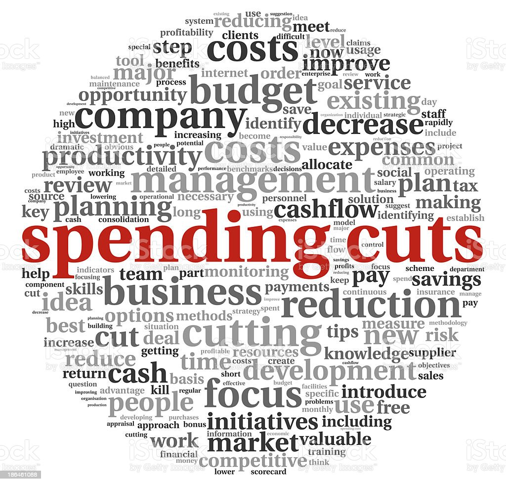 Spending cuts concept royalty-free stock photo