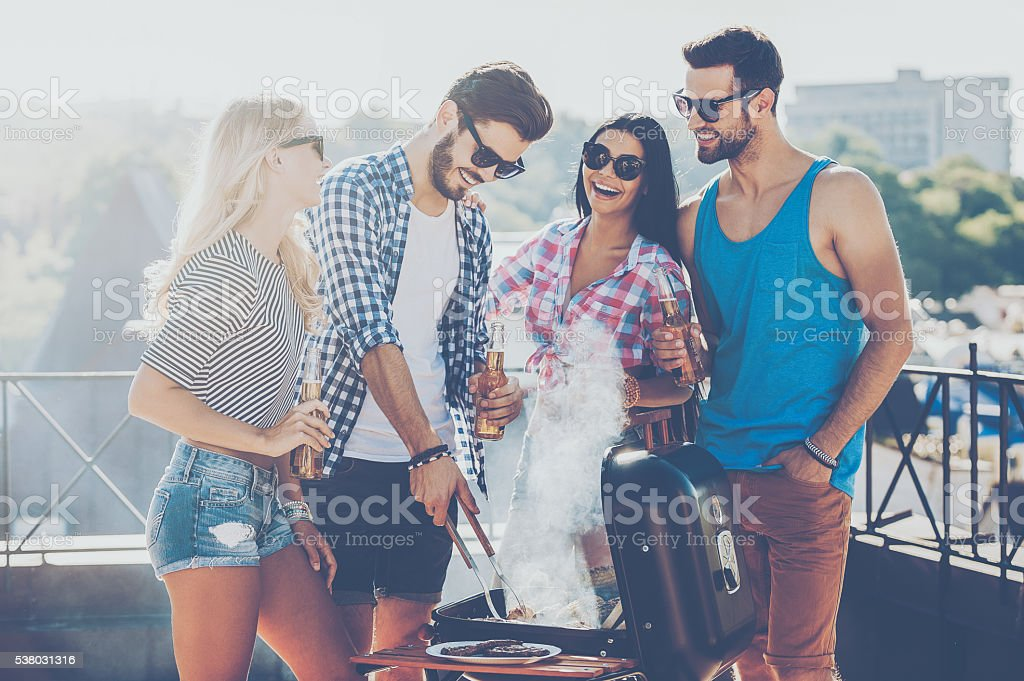 Spending great time with friends. stock photo