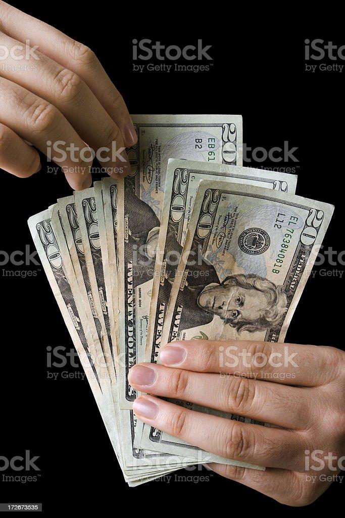 Spending Money royalty-free stock photo