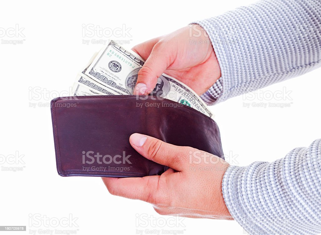 Spending money royalty-free stock photo