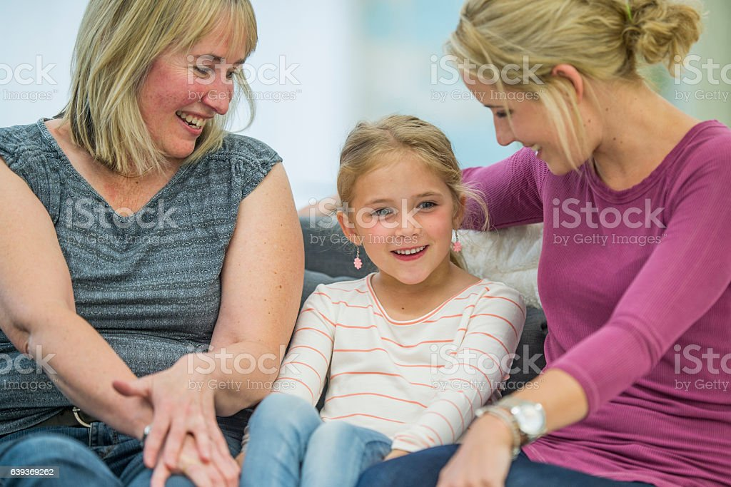 Spending Mother's Day Together stock photo