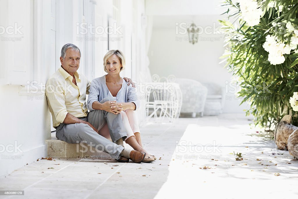 Spending some quality time together stock photo