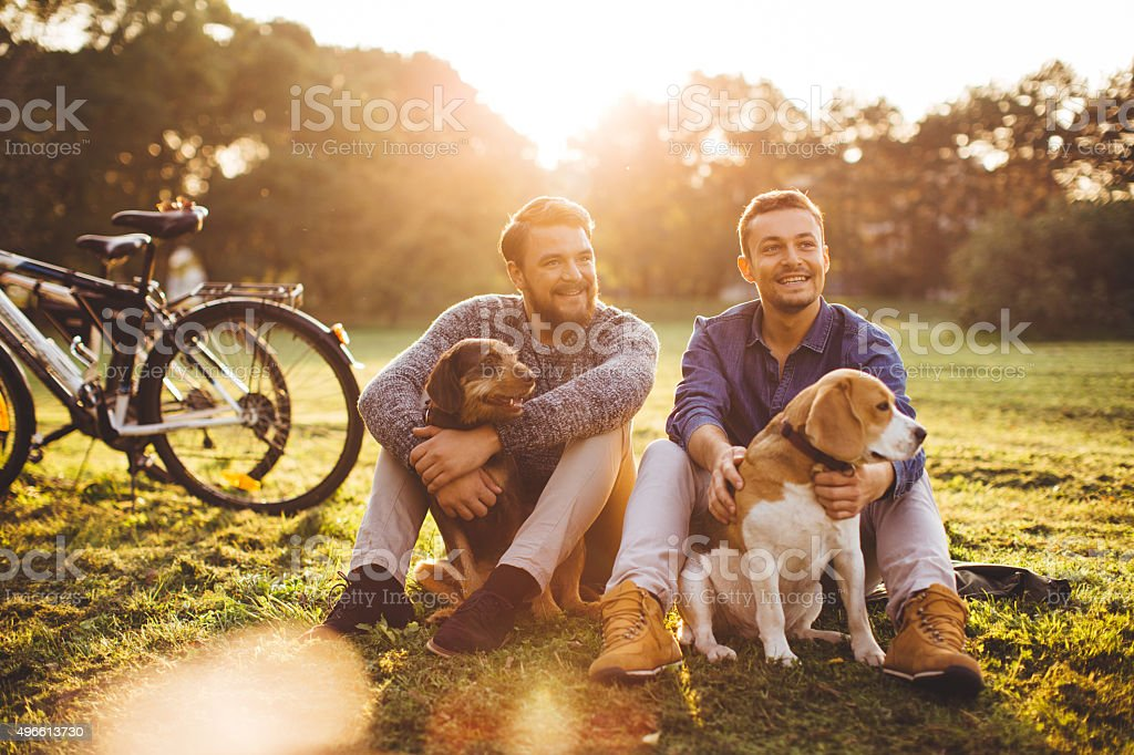 Spending the day together. stock photo