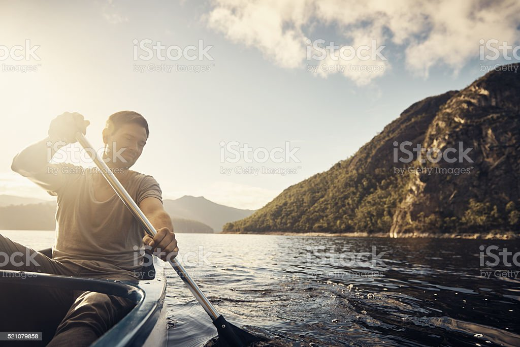 Spending the weekend out on the water stock photo