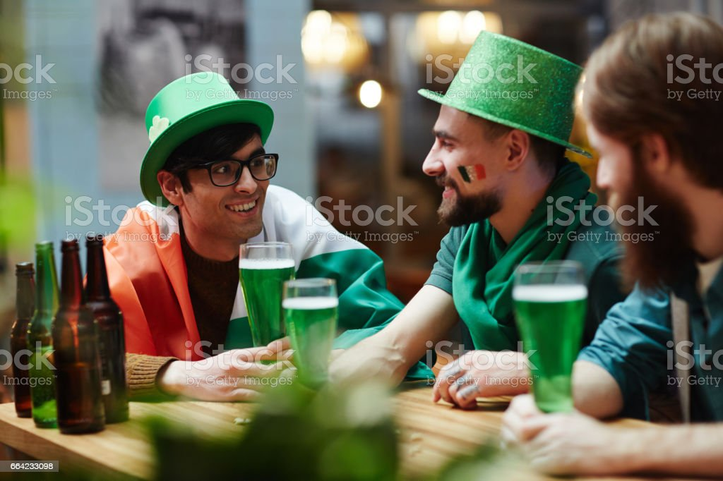 Spending time in pub stock photo
