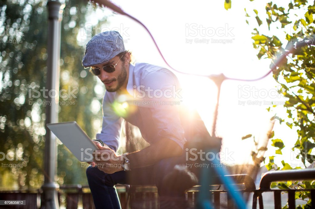Spending time outside of the office stock photo