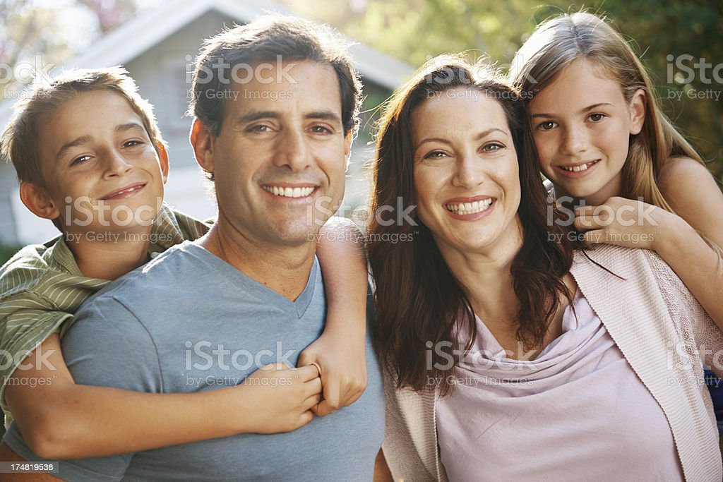 Spending time together as a family royalty-free stock photo
