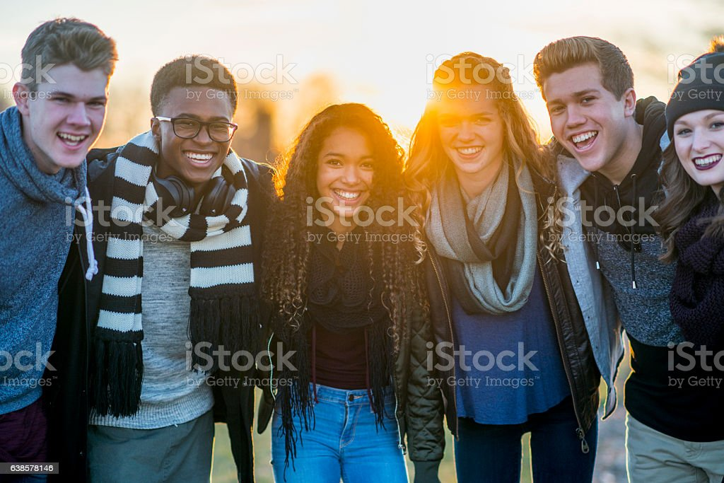 Spending Time Together at the Park stock photo
