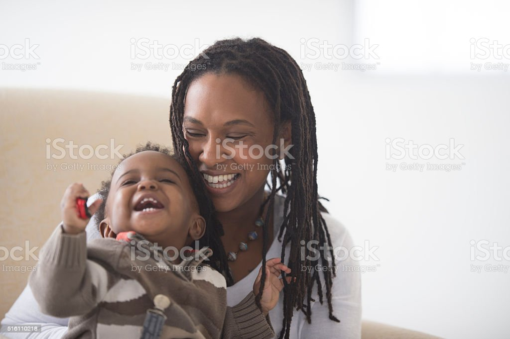 Spending Time Together on Mother's Day royalty-free stock photo