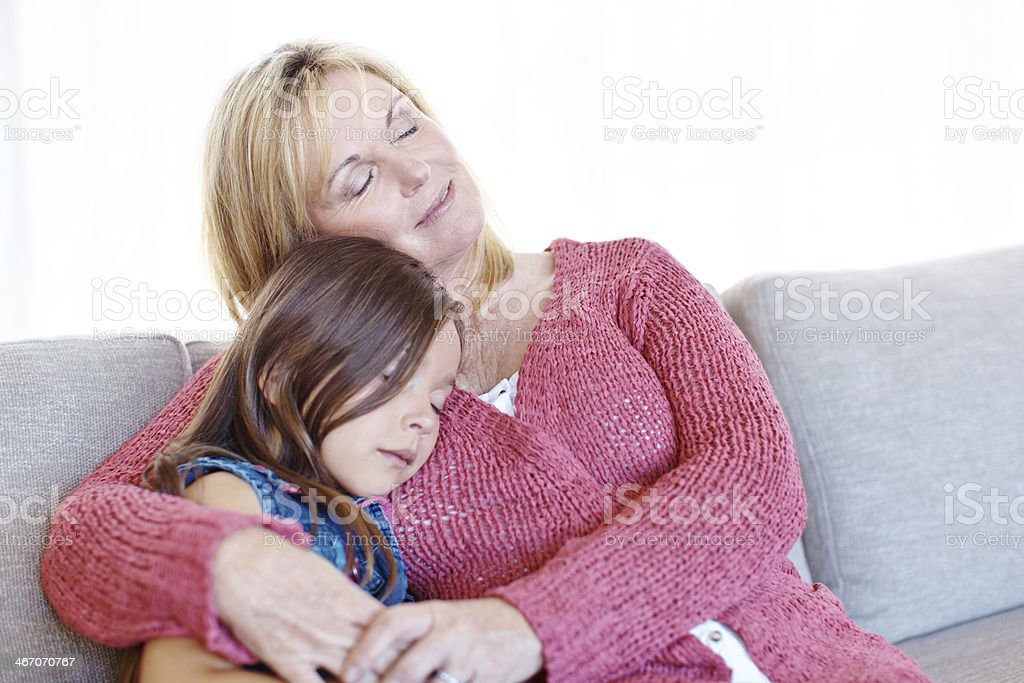 Spending time with grandma royalty-free stock photo
